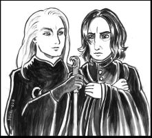 Lucius and Snape by shivikai
