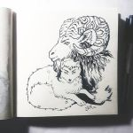 Instaart - Montain Ram and Arctic fox by Candra