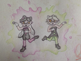 Callie and Marie - Splatoon by Eve-aCatty