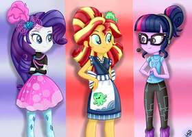 MLP:EquestriaGirls Specials-Rarity-Sunset-Twilight by liniitadash23