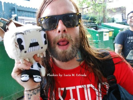 Chibi plushie Chadam, with Bert from The Used. by SpiderRabbit