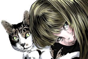 Kitty and Cat no flats by carriehowarth
