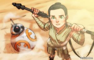 Star Wars Rey by ArtistAbe