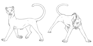 Cheetahs FREE Linearts by AFrozenHeart