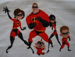 The Incredibles cross stitch by Pemachi