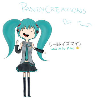 Hatsune miku: adventure time by PandyCreations