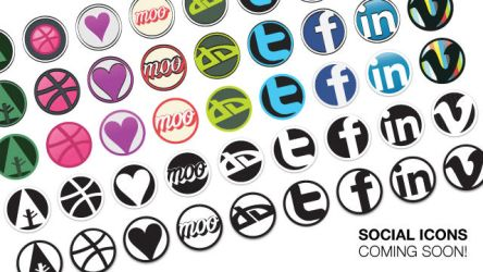 Social Design Icon Set Rough by mfvisuals