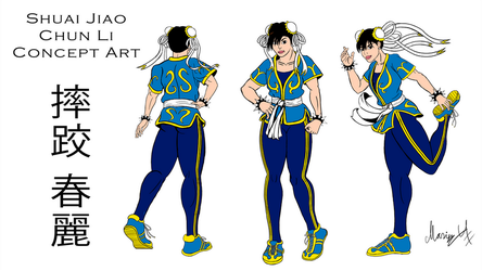 Shuai Jiao Chun Li Concept Art by MarioUComics