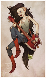 Marceline the Vampire Queen by yvash
