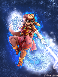 Zizi electrical charged magic attack by Rafeal