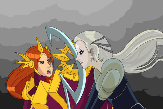 Leona vs Diana by swan-swan