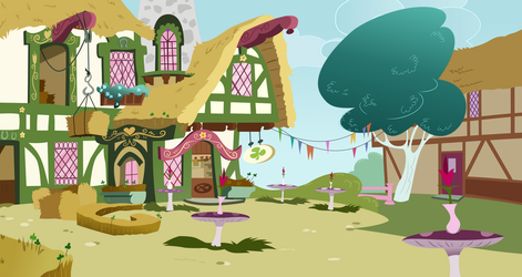 The Clover Cafe (background) by gwennie-chan