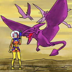 'Bubbles' and the Pterodactyles by PeKj