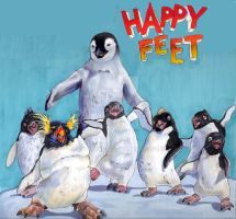 happy feet gang by EatToast