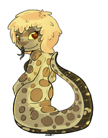 Western Hognose Naga Girl by oddsocket