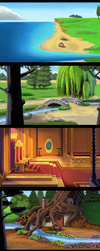 KQ4 Remake - VGA backgrounds by Nightfable