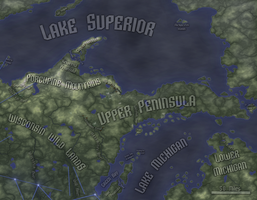 Physical Geography, Upper Peninsula (Rifts RPG) by FeroceFV