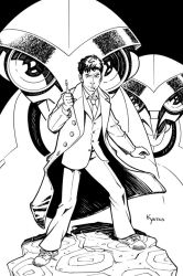 Doctor Who: Autopia lineart by KellyYates