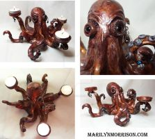Octo Tea Light Holder by MarilynMorrison