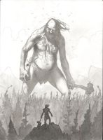 Thor vs A Giant-ink wash by bearmantooth