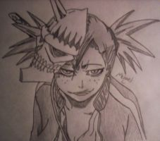Bleach..Hiyori's hollow mask by MIKEL01
