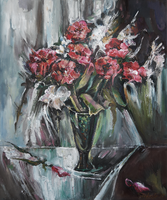 Still-Life with Red Flowers by raysheaf