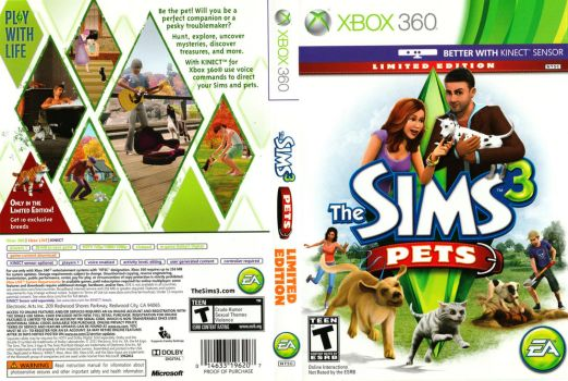 The Sims 3 Pets Boxart (Xbox 360) by dakotaatokad