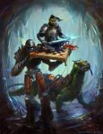 Into the Underdark [DnD character commission] by Sarasti-art