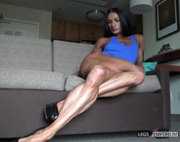 Serrated Double Crossed Leggy Goodness with Diana by LegsEmporium