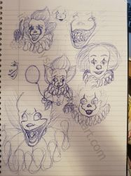 Pennywise Doodles by IddyBiddySquish