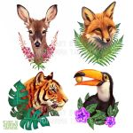 Sticker designs by Lhuin