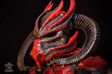 Demon Dragon Leather Helmet by Azmal