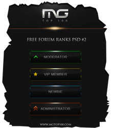 Free Forum Ranks Pack PSD by E-moX