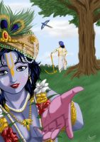 Krishna calling out by nairarun15
