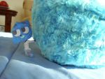 Gumball With Blue Gumball Pillow by wintercool612