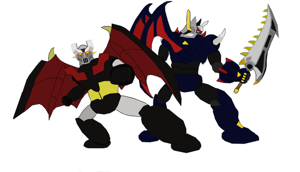 Shin Mazinger Z and Mazinkaiser SKL by damiendragon