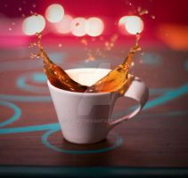 my cup of coffee by T-bau