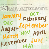 handwriting-months brushes by chokingonstatic