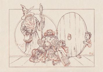 The Hobbit - An unexpected party by Riana-art