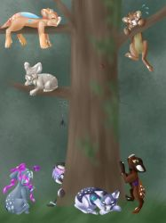 -YCH- Evoloon Forest by Acrylic-blood