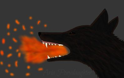 Fire Wolf by AriaPonydaughter