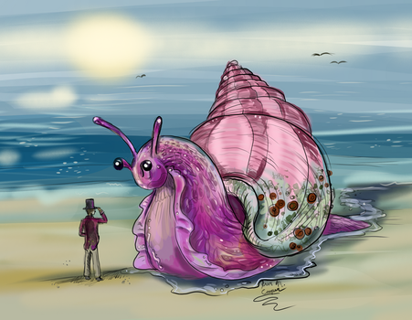 Dr. Doolittle and the Giant Pink Sea Snail by Shadowind