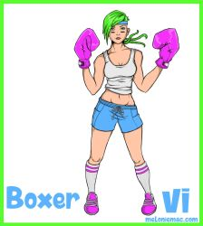 Boxer Vi Fan Skin by MelonieMac