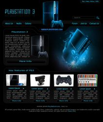PlayStation 3 Web Layout by hussain72m