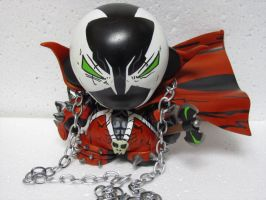 spawn munny kidrobot custom by laz69frog