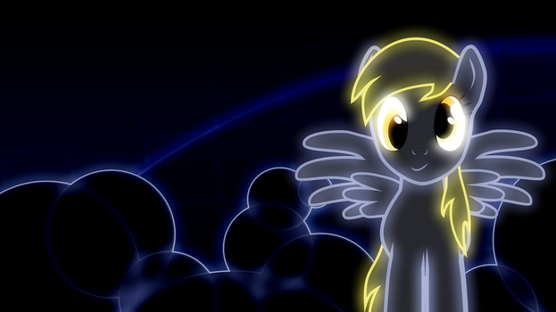Derpy Hooves neon wallpaper by AllicornUK