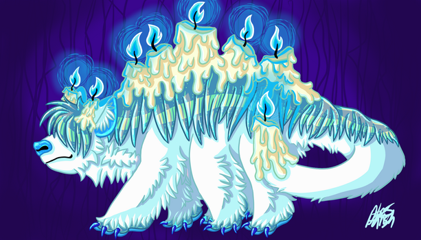 Candle Beast by xwolf19