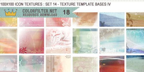 Icon Textures Set 14 - Texture Template Bases IV by colorfilter