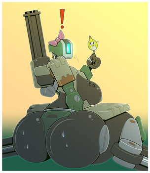 Overwatch : Bastion Butt by R-MK