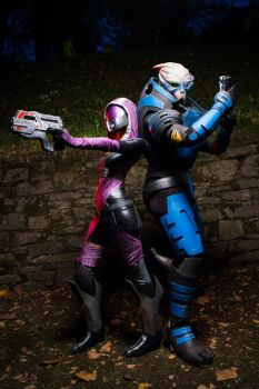 Squadmates. (Tali and Garrus Cosplay) by Ruby-Rust